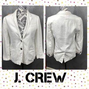 J. Crew white linen blazer pockets lightweight